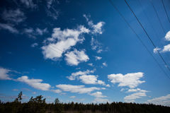 Clouds. In the blue sky Stock Photo