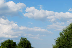 Clouds. Are in blue sky Royalty Free Stock Photo