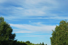 Clouds. Are in blue sky Royalty Free Stock Image