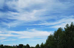 Clouds. Are in blue sky Royalty Free Stock Images