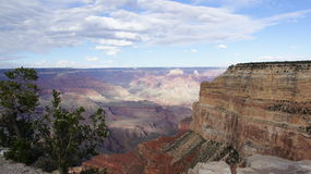 Clouds in a blue sky above the Grand Canyon, Arizona. Royalty Free Stock Photos