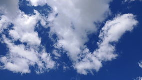 Clouds in the blue sky stock footage