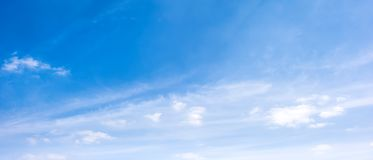 Clouds on a blue sky royalty free stock photography