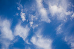 Clouds on blue sky, backgorund. Royalty Free Stock Photos