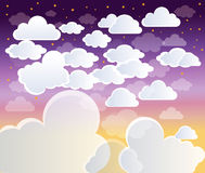 Clouds. On Blue Sky background Stock Photo