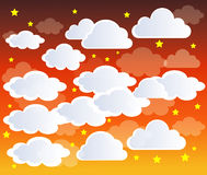 Clouds. On Blue Sky background Stock Photography