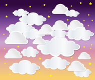 Clouds. On Blue Sky background Stock Image
