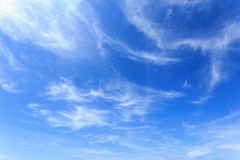 Clouds in the blue sky. For background stock photography