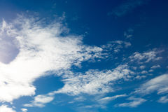 Clouds with blue sky Stock Images