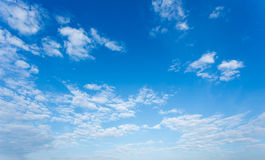 Clouds and blue sky background Royalty Free Stock Photography