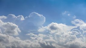 Clouds and blue sky only for background, no land and no sea. stock footage