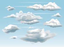 Clouds and Blue Sky Background. Realistic clouds vector illustration. EPS10 Format Royalty Free Stock Images