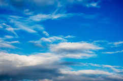 Clouds. Blue sky background with tiny clouds Royalty Free Stock Photography