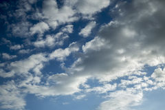 Clouds. Blue sky background with tiny clouds Stock Photo