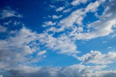Clouds. Blue sky background with tiny clouds Royalty Free Stock Photo