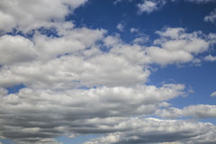 Clouds. Blue sky background with tiny clouds Royalty Free Stock Image