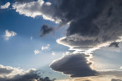 Clouds. Blue sky background with tiny clouds Royalty Free Stock Photos