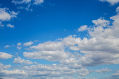 Clouds. Blue sky background with tiny clouds Royalty Free Stock Images