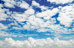 Clouds on a blue sky background. White clouds on a blue sky background Royalty Free Stock Photo