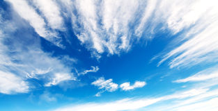 Clouds in the blue sky. Beautiful clouds in the blue sky Stock Photos