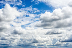 Clouds on blue sky. Beautiful clouds on blue sky Royalty Free Stock Photography