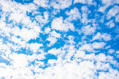 Clouds in the blue sky. Beautiful sky with clouds in the morning Stock Images