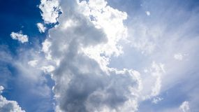 Clouds in a blue sky Stock Image
