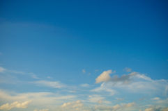 Clouds in the blue sky, Blue sky on good weather day Royalty Free Stock Photo