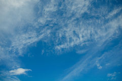 Clouds in the blue sky, Blue sky on good weather day Stock Image