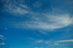 Clouds in the blue sky, Blue sky on good weather day Royalty Free Stock Photography