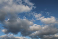 Clouds, blue sky, bright Sun Royalty Free Stock Photography