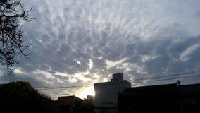 Cielo Sky Cloud Nube Sol Sun. Clouds in the blue sky stock image