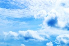 Clouds in the blue sky. Clouds in the clear blue sky Royalty Free Stock Images