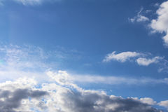 Clouds and blue sky Royalty Free Stock Photography