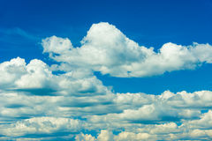 Clouds at Blue Sky. Cloud formations at the sky Royalty Free Stock Photography
