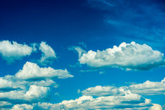 Clouds at Blue Sky. Cloud formations at the sky Royalty Free Stock Photo