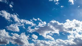 Clouds in the blue sky. stock video footage