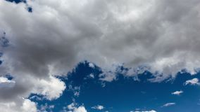 Clouds in the blue sky. stock footage