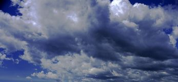 Destruction clouds in blue sky. Clouds in blue sky destruction Royalty Free Stock Images