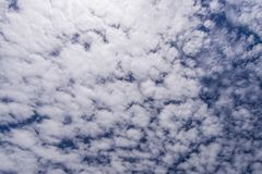 White clouds in the beautiful blue sky Royalty Free Stock Image