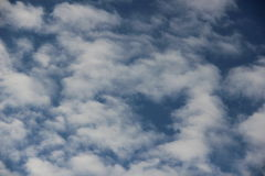Clouds on blue sky. Fluffy clouds on blue sky Royalty Free Stock Photography