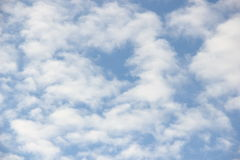 Clouds on blue sky. Fluffy clouds on blue sky Royalty Free Stock Photos