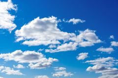 Clouds on the blue sky. royalty free stock photos