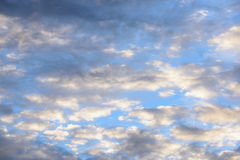 Clouds with blue sky in golden time Royalty Free Stock Image
