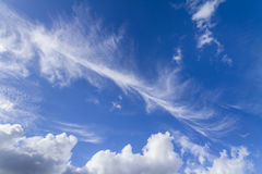 Clouds on the blue sky. Good for creating composite and brushes Stock Photography