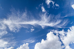 Clouds on the blue sky. Good for creating composite and brushes Royalty Free Stock Photo