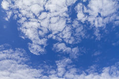 Clouds on the blue sky. Good for creating composite and brushes Stock Photos