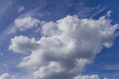 Clouds on the blue sky. Good for creating composite and brushes Royalty Free Stock Image