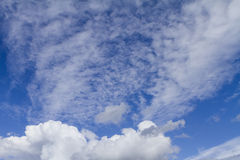 Clouds on the blue sky. Stock Photo