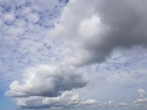 Clouds in the blue sky. Good view Stock Photography